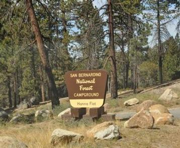 Hanna Flat Campground Sign