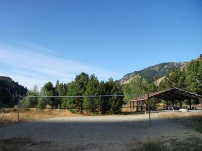 Lots of pine trees around the pavillion will provide lots of shade with your campsites very close.Elks Flat Campground