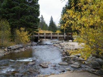 CAMP DICK Bridge over Creek