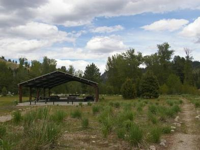 Easy access to the large-group pavillions that can accommodate up to 100 people with hiking, biking, fishing and swimming nearby.Elks Flat Campground
