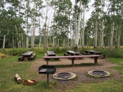 WARNER LAKE Group siteGroup site Picnic tables