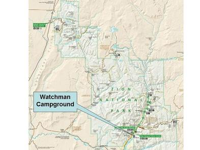 Zion mapZion park map with WCG insert