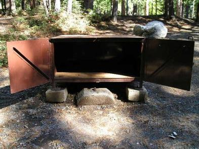 Upper Pines Bear Box open