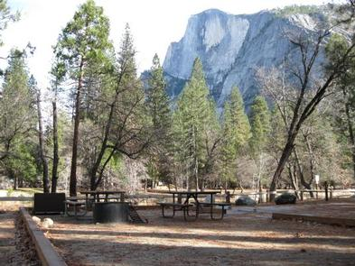 Lower Pines Campsite with Half Dome in the background