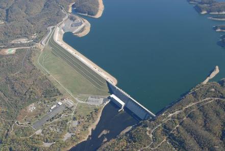 Aerial of Wolf Creek Dam Aerial of Wolf Creek Dam