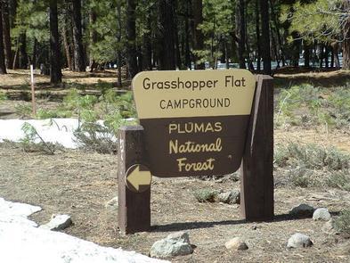 GRASSHOPPER FLAT entrance signEntrance Sign