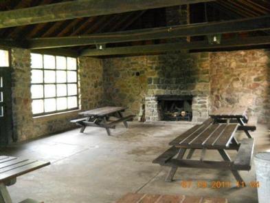 Inside Black River Harbor Pavilion