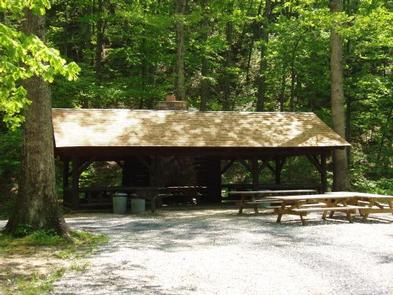Williams Branch Picnic Shelter at Sherando Lake