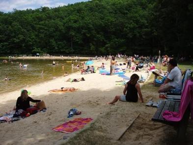 Lower lake swimming beach