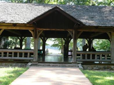Beach Bathhouse Pavilion at Lower Lake