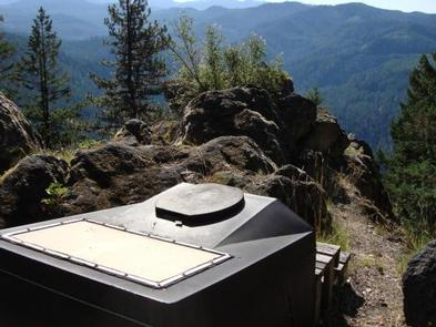 ACKER ROCK LOOKOUT-Composting ToiletComposting toilet near lookout