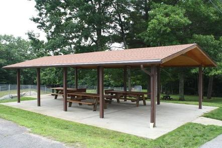 WEST HILL PARKShelter #3 is located at 518 East Hartford Avenue, in Uxbridge, MA.  It is not located at the park near the beaches.  You can travel to the park beaches by vehicle or hike to the beaches about 1.5 miles away at 25 West Hill Road, Northbridge, MA  01534.