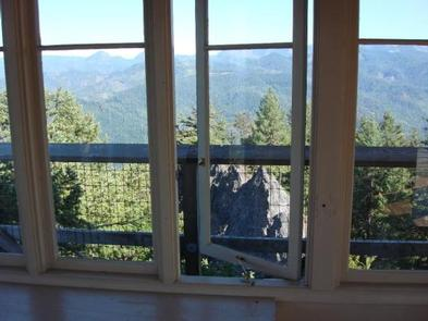 ACKER ROCK LOOKOUT-Window Looking NorthInterior with a view