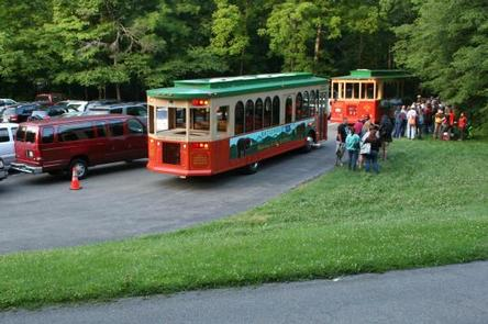 Historical - FIREFLY EVENTVisitors loading on Trolly's where a $2.00 (cash only) round-trip, per-person fee will be collected when boarding the shuttle at Sugarlands Visitor Center.