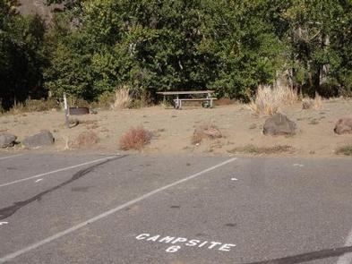 Roza Campsite 6 with picnic table, fire ring and parking space.Roza Campsite #6