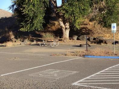 Lmuma Creek Campsite 6 with picnic table, fire ring and parking space.Lmuma Creek Campsite #6
