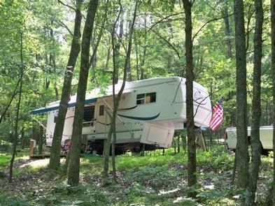 An RV site at Peaks of Otter.One of the RV sites at Peaks of Otter.
