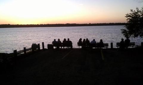 Sunset at Cross Lake Recreation Area
