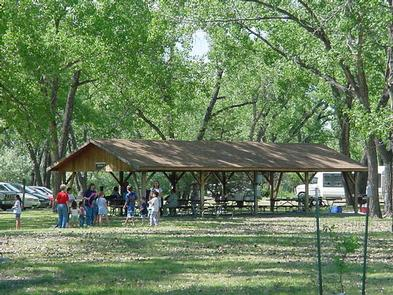 Downstream ShelterShelters are available for reservation.