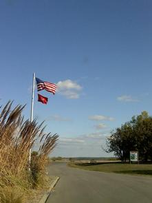BLOOMINGTON EAST Entrance Flagpole at Bloomington East Park