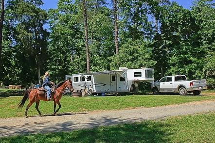 Rider at Canebrake Horse CampEnjoy time with your friends, family and horses here.