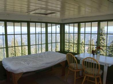 Inside DEADWOOD LOOKOUT REC CABINLookout interior