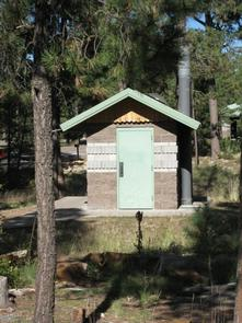 Crook Group Campground Vault Each loop in Crook has a dedicated double vault restroom