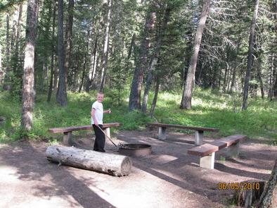 PINE CREEK CAMPGROUND, benches & child Pine Creek Campground