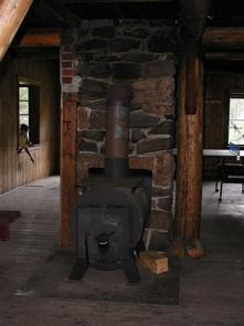 AMERICAN RIDGE LODGEWood Stove used for heating
