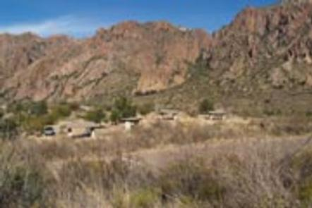 Group campground, situated among the mountainsGroup campground