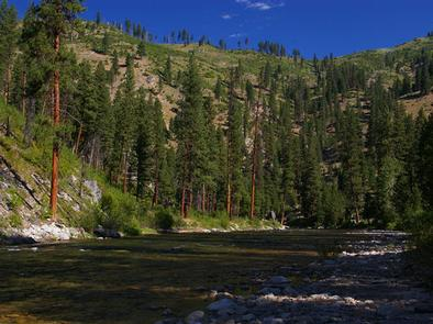 BLACK ROCK CAMPGROUND along the North Fork Boise River