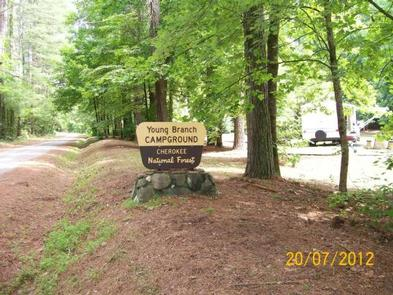 Campground sign at entrance