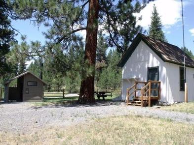 Murderers Creek Guard Station - Back YardBack yard