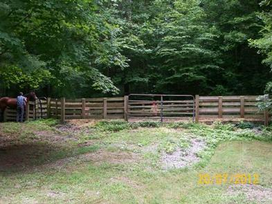 Horse corral at campground