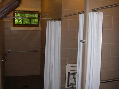 LOST LAKE CABINSInterior of Men's Shower House