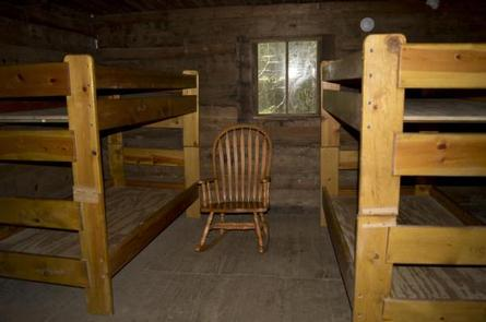 Bunkbeds inside cabin