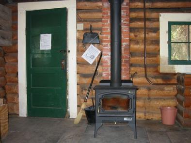 Mill Creek Cabin woodstoveMill Creek cabin woodstove