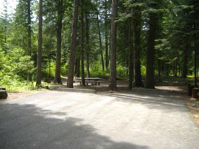 Yaak River Campground site