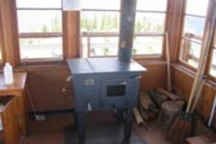 Garver Lookout-wood stoveGarver Lookout wood stove