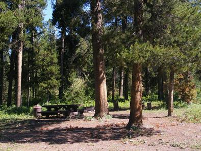 DEER CREEK CABIN (WY)picnic table and fire ring