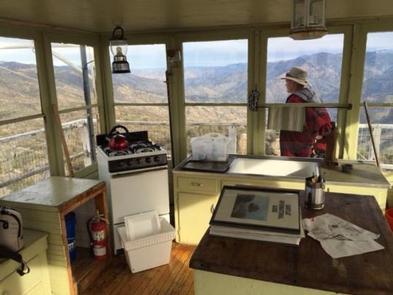OAK FLAT LOOKOUTView from inside Oak Flat Lookout