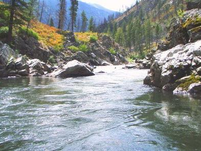 Crystal clear waters of the Middle Fork of the Salmon River