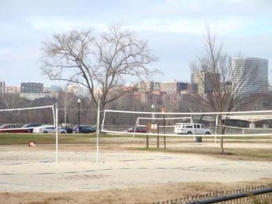 Parkway Drive-Volleyball Courts and DC SkylineParkway Drive-Volleyball Courts with view of Washington DC Skyline