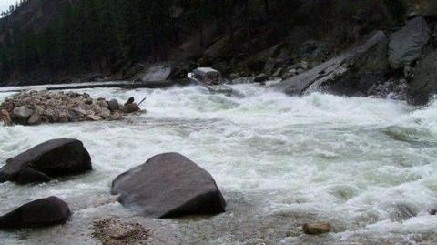 Jet Boat Running Up Black Creek Rapid