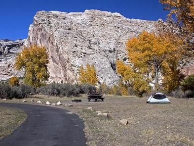 Tent at Split Mountain Campground.