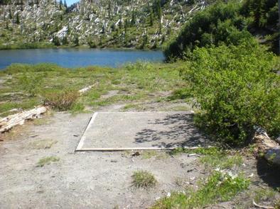 Mount Margaret Backcountry 2Campsite sample showing tent plad