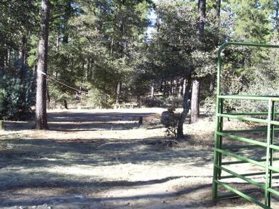 GROOM CREEK HORSE CAMP edge of corral and tie-outcorral and tie-out