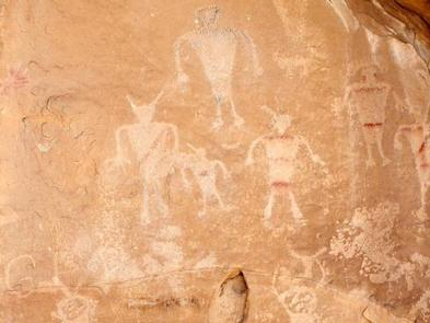 Petroglyph panel in Dinosaur National Monument.