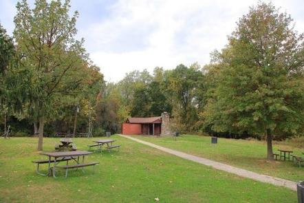 Fort Dupont Park Picnic Areas Lanham EstateThe shelter at Lanham Estate has bathroom facilities in addition to picnic tables and grills