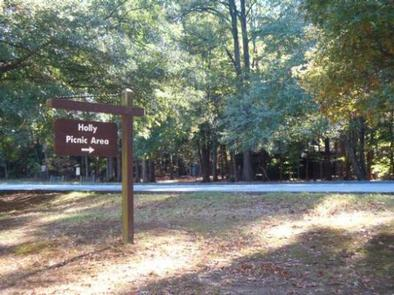 GREENBELT PARK PICNIC AREA- Holly Picnic Area signEnjoy a family reunion or company picnic at Holly Picnic Area in the Urban Oasis